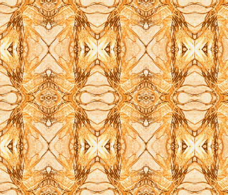 Organics in Orange fabric by engelstudios on Spoonflower - custom fabric