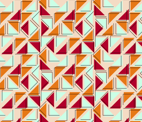 triangles fabric by suziedesign on Spoonflower - custom fabric