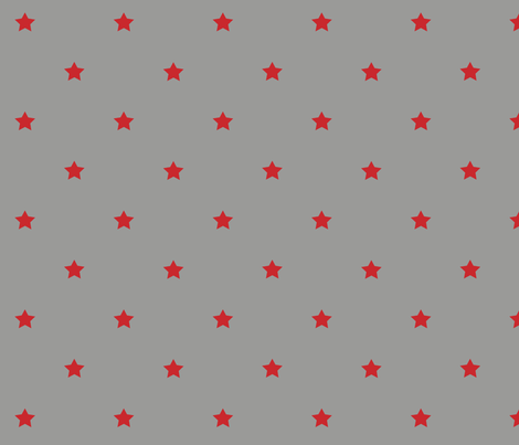 STARS_gray_red fabric by yvonne_herbst on Spoonflower - custom fabric