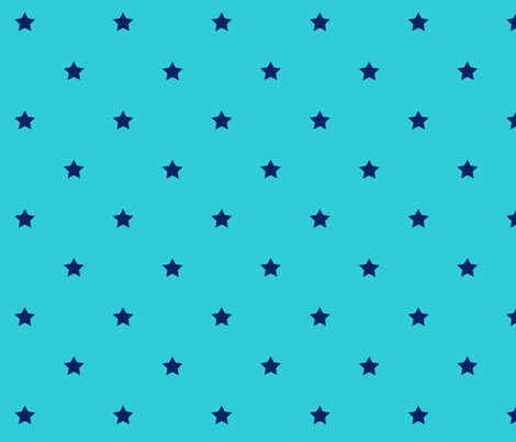 STARS_turquoise_blue fabric by yvonne_herbst on Spoonflower - custom fabric