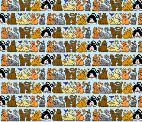 Cats-Galore fabric by zombiebydesign on Spoonflower - custom fabric