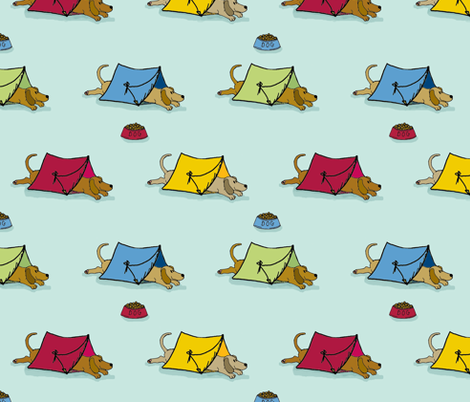 'Pup Tents' fabric by hauteideas on Spoonflower - custom fabric