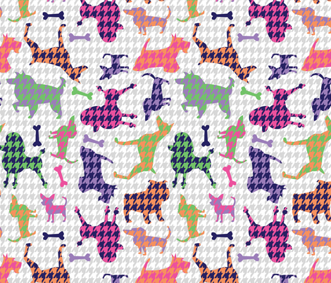 Houndstooth Hounds fabric by acbeilke on Spoonflower - custom fabric