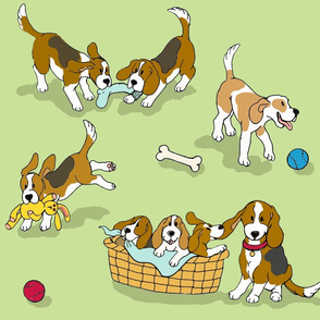 Beagle 'Dog-Ma' (green)