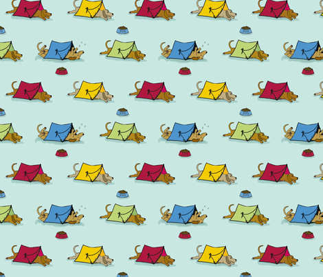 'Pup Tents'  2 (Let sleeping dogs lie.) fabric by hauteideas on Spoonflower - custom fabric