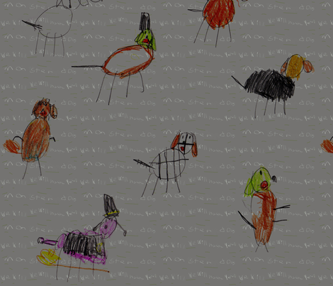Monster Dogs fabric by eislinn on Spoonflower - custom fabric