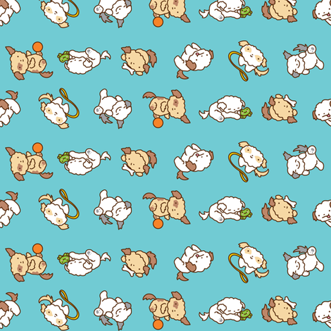 Puff Ball Puppies fabric by jillianmorris on Spoonflower - custom fabric