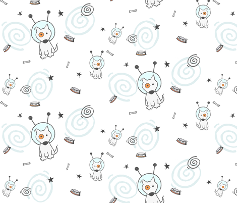 My little space dog fabric by puncezilla on Spoonflower - custom fabric