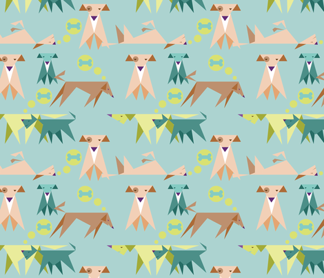 Triangle Dogs fabric by vinpauld on Spoonflower - custom fabric