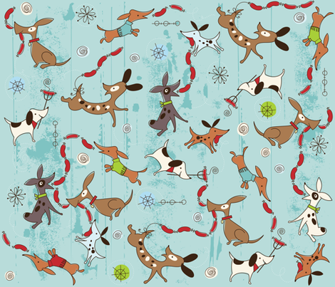 Dog Eat Dog fabric by cynthiafrenette on Spoonflower - custom fabric