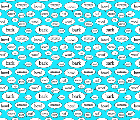Dog Sounds fabric by klingercreative on Spoonflower - custom fabric
