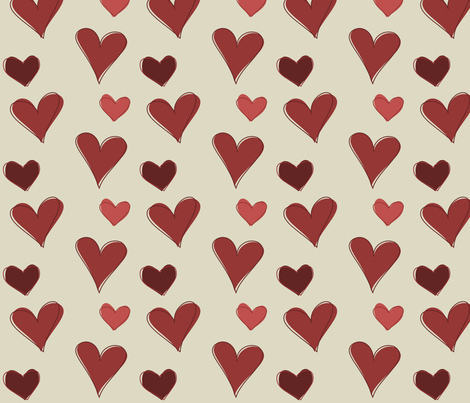 Hearty Scribbles 001 fabric by lowa84 on Spoonflower - custom fabric