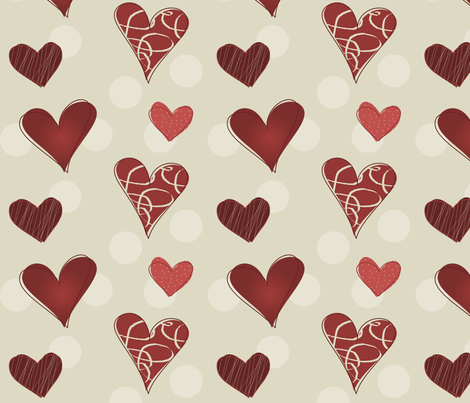 Hearty Scribbles 002 fabric by lowa84 on Spoonflower - custom fabric