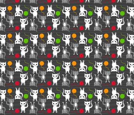 cats_n_yarns fabric by squirrelgirl on Spoonflower - custom fabric