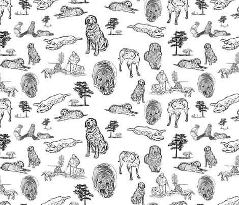 Toile du Chien fabric by madam0wl on Spoonflower - custom fabric