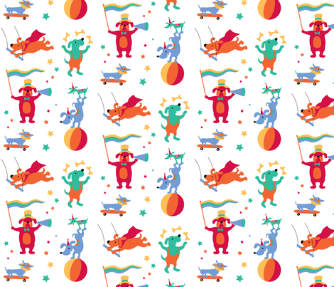 CircusDogs fabric by happysewlucky on Spoonflower - custom fabric