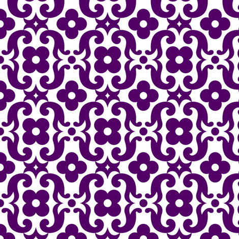 PANSYgrape fabric by happysewlucky on Spoonflower - custom fabric