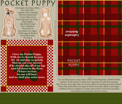 Pocket_Puppy_-_Lab fabric by eclectic_mermaid on Spoonflower - custom fabric