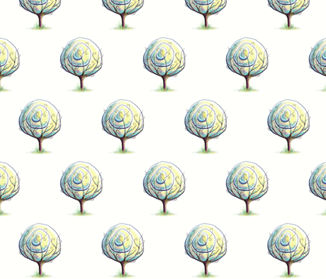 The Circle Tree fabric by miraculousmosquito on Spoonflower - custom fabric