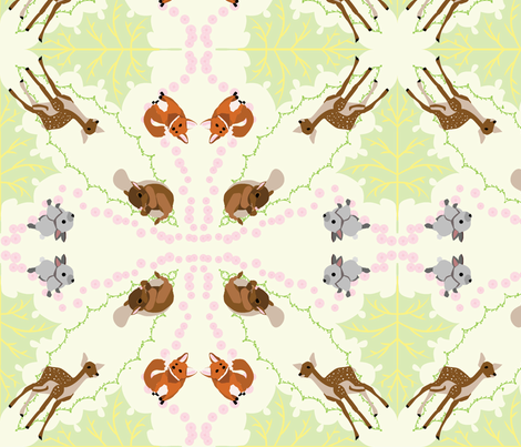 Forest Friends fabric by richardrainbolt on Spoonflower - custom fabric