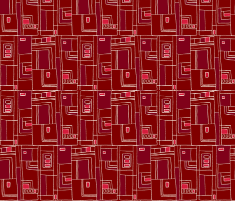 BOUNDARIES_ Chilli fabric by designcrafty on Spoonflower - custom fabric