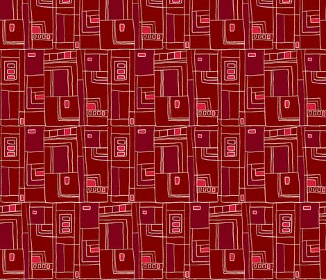 BOUNDARIES_ Chilli fabric by designcrafty on Spoonflower - custom fabric