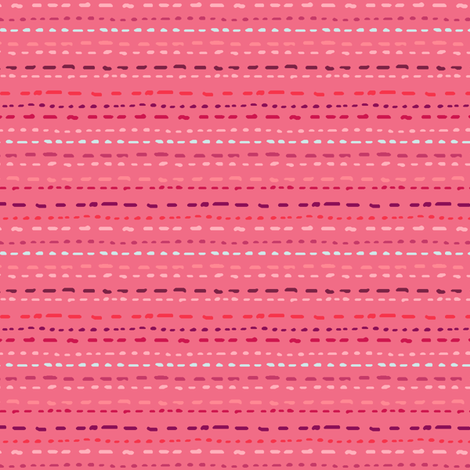 Running stitch effect fabric by designcrafty on Spoonflower - custom fabric