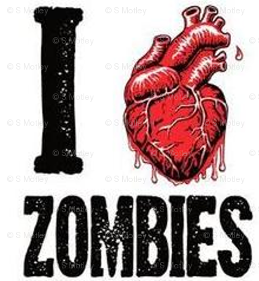I love zombies white