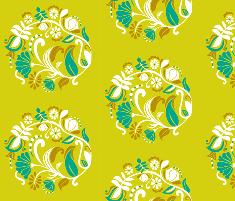 botanical fabric by renule on Spoonflower - custom fabric