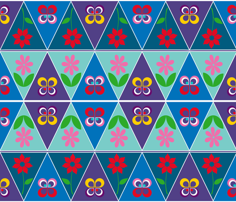 happy_bunting fabric by snork on Spoonflower - custom fabric