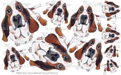 Make Your Own Basset Hound Pillows