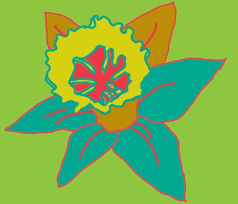 Daffodil_Cool150 fabric by kikcaryn on Spoonflower - custom fabric