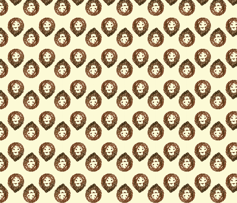 The Jinxed Rust Lion fabric by pond_ripple on Spoonflower - custom fabric