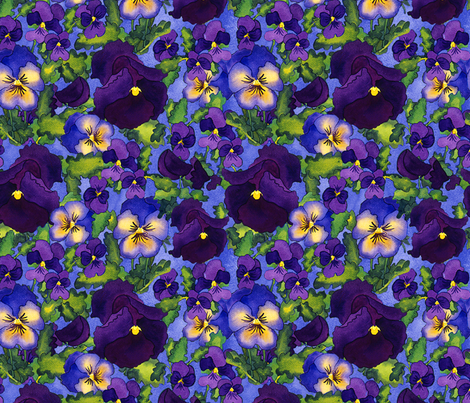 pansies fabric by erinwilliams on Spoonflower - custom fabric