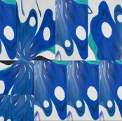 blue butterfly wings collage