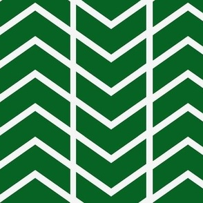 chevron stripe in Kelly Green