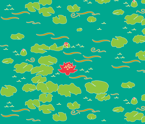 Big Pond fabric by jadegordon on Spoonflower - custom fabric