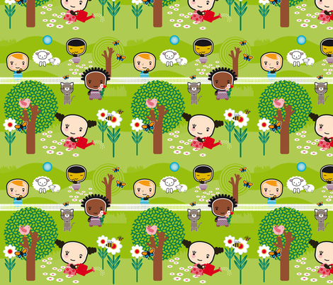 Ollipoppies_Springtime fabric by ollipoppies on Spoonflower - custom fabric