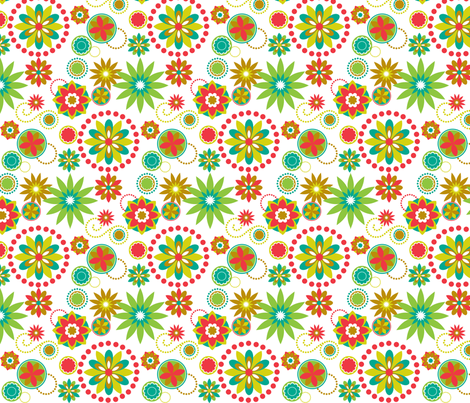 Melon Flowers fabric by annabhall on Spoonflower - custom fabric