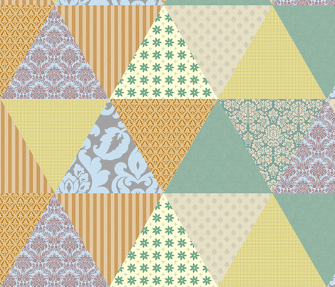 Fake quilt triangles fabric by ravynka on Spoonflower - custom fabric