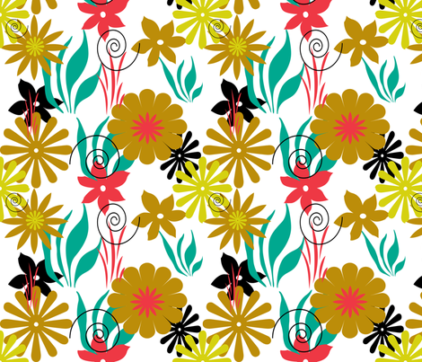 FLOWERS fabric by elfyne on Spoonflower - custom fabric