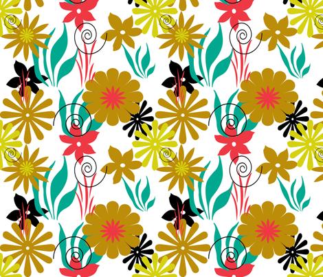 FLOWERS fabric by elfyne on Spoonflower - custom fabric