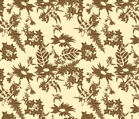 brown_toile fabric by holli_zollinger on Spoonflower - custom fabric