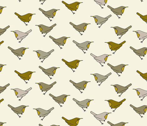 brownbirds fabric by holli_zollinger on Spoonflower - custom fabric