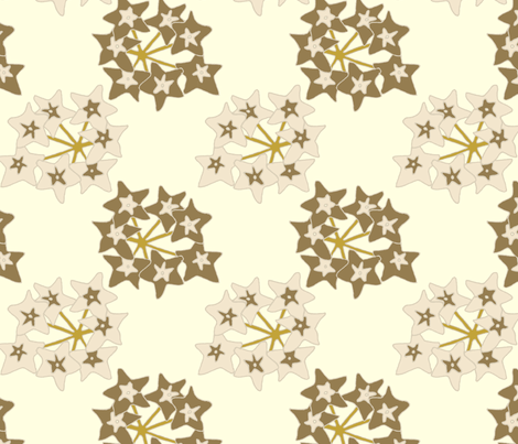 chinese_stars_brown fabric by holli_zollinger on Spoonflower - custom fabric