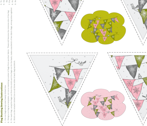SewingGeek BUNTING PATTERN fabric by marywalker on Spoonflower - custom fabric