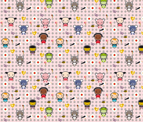 Ollipoppies_Summer fabric by ollipoppies on Spoonflower - custom fabric