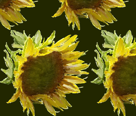 Sunflower_pattern_RainLongson fabric by rainlongson-artist on Spoonflower - custom fabric