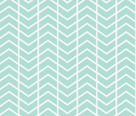 chevron stripe mint fabric by ninaribena on Spoonflower - custom fabric