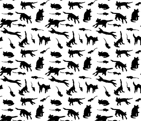 Cats fabric by kimthings on Spoonflower - custom fabric
